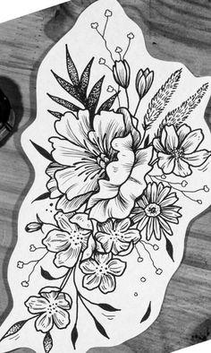 part or just that - drawing flowers - # # flowers .- Teil oder nur das – Blumen zeichnen – # # Blumen – homemad… part or just that – drawing flowers – # # flowers – homemade tattoos – - Dream Tattoos, Future Tattoos, Love Tattoos, Body Art Tattoos, Tattoo Drawings, New Tattoos, Pretty Tattoos, Beautiful Tattoos, Piercing Tattoo