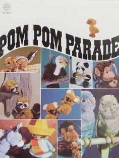 Pom Pom Animals Booklet 32 Pages Color New Old Stock