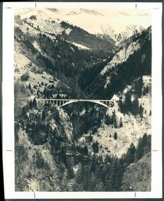 Robert Maillart, Bridge. Photo of Switzerland ( BFH-925-BS )  Price : $10.00 http://www.newspaperphotographs.com/Baltimore-Sun-Photo-Archive-Switzerland/dp/B00IS4X2DM