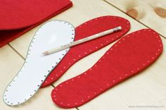 #Crochet #Tutorial - making felt soles for crocheted slippers.