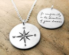 Go confidently in the direction of your dreams by lulubugjewelry. Obsessed with this for graduation.