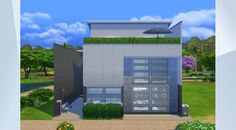 Tsekkaa tämä tontti The Sims 4 Galleriassa! - Here's another modern build. Lots of room and similarly themed bedrooms. 3 bedrooms for adults, 1 for kids. Small backyard patio + rooftop patio. Sauna / house spa included in ground floor. Study/writing room on 1st floor, gym 2nd floor.    I hope you like!!!                                                                                              #house #residental #modern #build #nocc #whatasimhouse