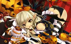 Résultat d'images pour manga halloween Anime Halloween, Image Halloween, Devil Halloween, Baby Halloween, Halloween 2014, Halloween Treats, Anime Sexy, Anime Sensual, Manga Drawing