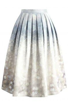 Glorious Sparkles Print Midi Skirt - Skirt - Bottoms - Retro, Indie and Unique Fashion