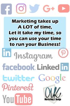 Managing of all of your social media accounts. Let's get your name and products/services out there!