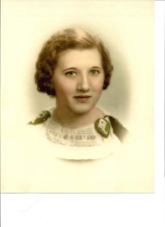 Marie Elizabeth Kritzler  I indexed her obituary. She was very beautiful. It is neat to see those whom you serve.