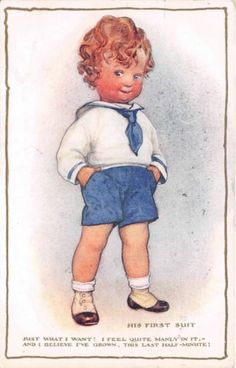 SB Pearse Our Baby Children First Sailor Suit Milford Artist Postcard 1918 | eBay