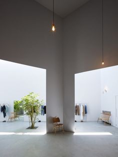 Clothing shop in Shizuoka-Shi Japan featuring ercol Stacking Chair, Butterfly Chair and Love Seat.