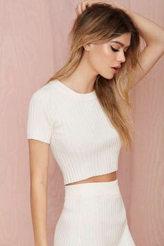 Knitz by For Love & Lemons Back to Basics Crop Top - Cropped | For Love and Lemons |  | Newly Added | Sweaters