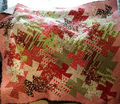 Christmas Quilt Twisted Style by PamelaQuilter   Quilting Ideas