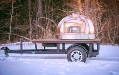 Mobile wood fired oven / Le Panyol / Maine Wood Heat Co. / Wood Fired Cooking