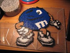 blue mm perler by ndbigdi.deviantart.com on @DeviantArt