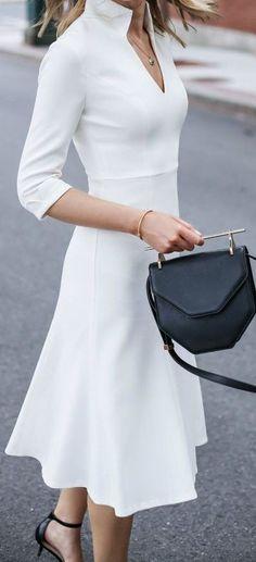 White midi dress.