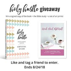 I had the absolute honor of being a guest on the @hellomornings podcast and today you could win an AWESOME #holyhustlebook prize pack  Head to the HelloMornings IG page for a the details and to learn how to enter! Good luck!