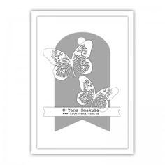 Скетчі для листівок в стилі Clean & Simple (Чисто і Просто). Жовтень 2012. Скетч №6