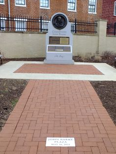 Commodore John Barry Memorial At The United States Naval Academy In  Annapolis. Part 37
