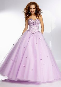Beaded Satin Bodice On A Tulle Ball Gown Skirt Bridesmaids Dresses(HM0480)