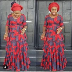 2018 Classical Ankara Styles Collection for the Most Beautiful African QueenLatest Ankara Styles and Aso Ebi Styles 2020 African Fashion Ankara, Latest African Fashion Dresses, African Print Fashion, Africa Fashion, Long African Dresses, African Print Dresses, African Prints, African Clothes, African Lace