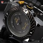 Men Shark Yellow 3D Digital LED Dual Time Date Silicone Sport Watch SH168