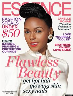 Janelle Monae on cover of Essence Magazine