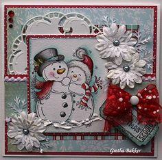 Het kaartenhoekje van Gretha: Dansende sneeuwpoppen - LOVE this!!