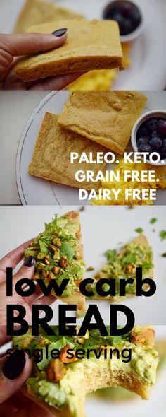 Low Carb Single Serving Bread (Paleo, Gluten Free, Grain Free, Keto)   Castaway Kitchen