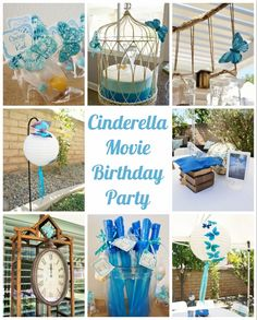 Cinderella Movie Party with Butterflies - decorations, tutorials, party favors, and more