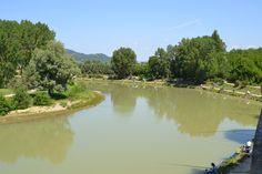 River Tiber, in Umbertide, Italy