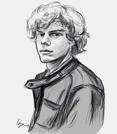 """Ellie) """"hey Tate! I finished the drawing! So um... Here. Like I said you can have it"""" I smile"""