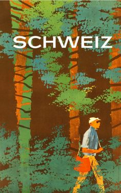 Schweiz - Vintage Posters - Galerie 123 - The place to find vintage art Original Vintage, Vintage Art, Vintage Ski Posters, Tourism Poster, Beautiful Posters, Graphic Design Art, Illustrators, Retro, Poster Prints