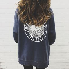 Oversized Steel Blue Full Zip Hoodie