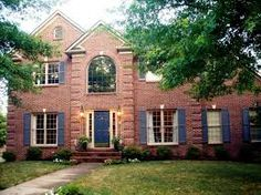 exterior house color schemes with red brick | Trina Clark Home ...