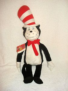 $19.99 Kohl's Cares for Kids Dr.Seuss Cat in the Hat I Can Read w/ my Eyes Shut Plush