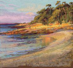 Sunset - Murramarang Beach, New South Wales, Australia - pastel - Judith Carducci
