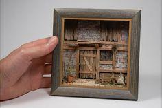 Index - Dioramen realistisch und hochdetailliert mit den Video Bauanleitungen von Markus Imthurn. Vitrine Miniature, Miniature Rooms, Miniature Crafts, Miniature Houses, Shadow Box Kunst, Shadow Box Art, Diy Dollhouse, Dollhouse Miniatures, Deco Marine