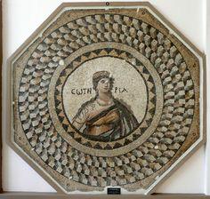 Mosaico. Soteria. Dalle terme di Apolausis (Antiochia). V secolo Museo Archeologico Hatay. Antakya, Turchia