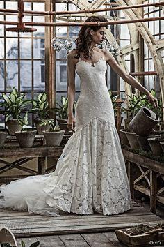 olvis 2017 couture bridal strapless sweetheart neckline full embellishment elegant mermaid wedding dress chapel train (2368) mv