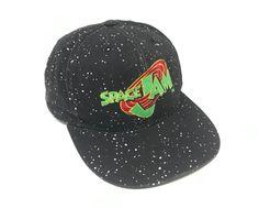 cdfdf5cf34e7af Vintage Space Jam Hat Snapback 90s All Over Print Tune Squad Monstars Michael  Jordan American Needle