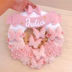 Baby Door Wreaths, Diy Cushion, Baby Mobile, Shabby Chic Christmas, Baby Keepsake, Baby Shower Fun, Baby Boutique, Baby Room Decor, Diy Wreath