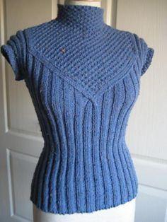 Ravelry: #20 French short-sleeve pullover pattern by Hitomi Shida (志田 ひとみ)