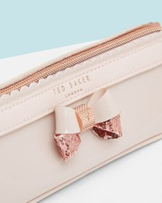 SHOP FOR HER: Scalloped edge pencil case - Pale Pink | Gifts for her | Ted Baker UK