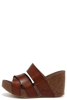 5a409a8152 Blowfish Hiro Whiskey Brown Wedge Sandals at Lulus.com! Brown Wedge Sandals,  Lace
