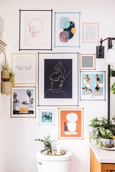 A daily dose of fashion discoveries and inspirations, contributed by a stylist and a designer who both see the world through rose-colored shades. #bathroom #wallart #illustrations