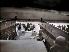 "June 6, 1944: D-Day, The Invasion of Normandy  On this day in 1944, Allied troops stormed the beaches of Normandy, France. More than 160,000 American, British, and Canadian troops and 30,000 vehicles landed along a 50-mile stretch of fortified French coastline. The Battle of Normandy, known as ""Operation Overlord,"" lasted from June 1944 to August 1944 and aided in ending World War II in Europe."