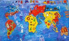Pots de Peinture : la mappemonde artistique : travail du motif, travail collectif