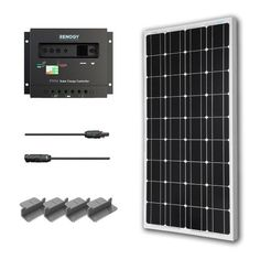 Solar Panel Starter Kit 100W Monocrystalline:100W Solar Panel UL 1703 Listed+2 20' Solar cables+PWM 30A Charge Controller+ Uniquely Designed... Great reviews
