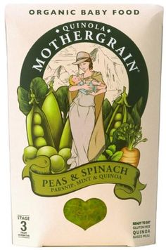 Pea,Spinach,Parsnip,Mint & Quinoa Baby Food Gluten Free, ORGANIC