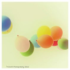 Dreamy Photography Balloons Floating  Primary by MScottPhotography #nursery  #balloons