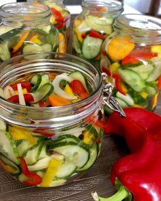Sałatka z ogórków do słoików - Blog z apetytem Preserves, Pickles, Cucumber, Salads, Food And Drink, Menu, Jar, Drinks, Blog