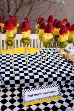 Stop Light Skewers:  Red, yellow, green ... and good for you, too!